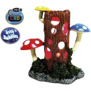 Dekorácia LOG WITH MUSHROOMs s LED 23,8x11,7x23,3cm